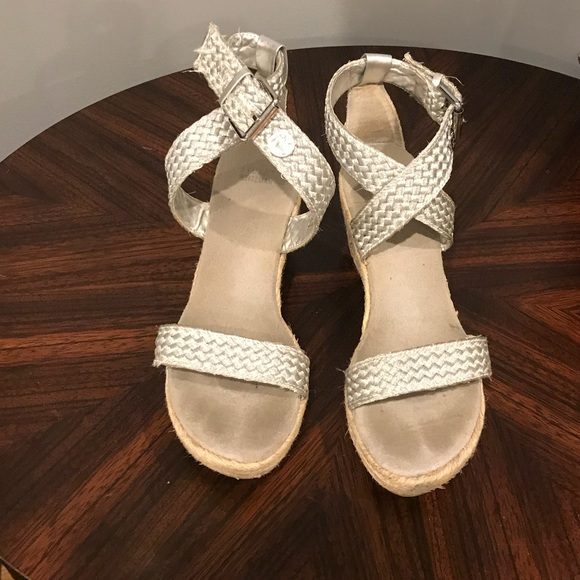 Girls Silver Wedge Sandals | Poshmark